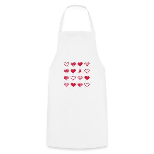 15 Herzen und Tangram - Kochschürze