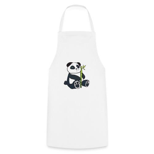 Oso Panda con Bamboo - Delantal de cocina