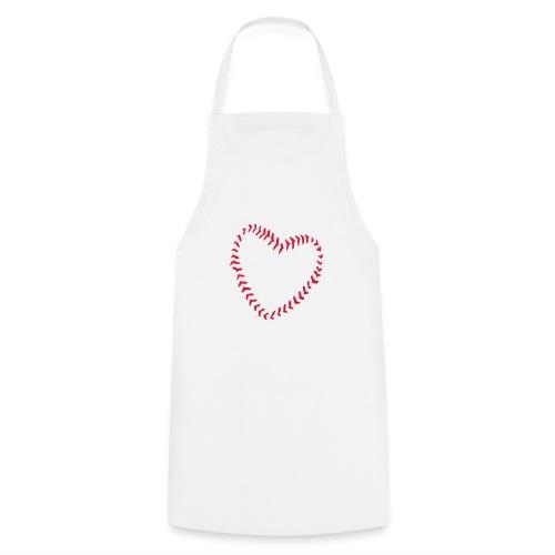 2581172 1029128891 Baseball Heart Of Seams - Cooking Apron