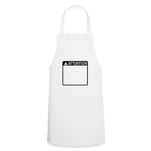 Attention Sign (1 colour) - Cooking Apron