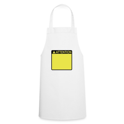 Attention Sign (2 colour) - Cooking Apron