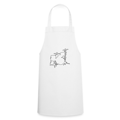 Drums Silhouette - Cooking Apron