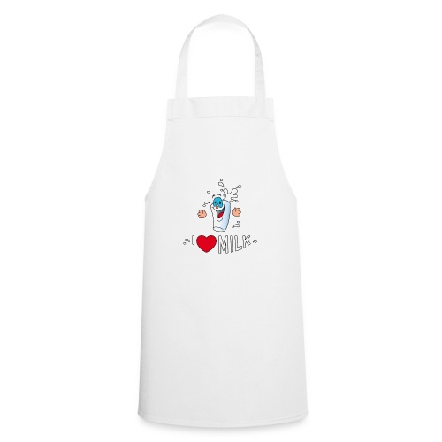 I love milk built this body Milch Kuh Stall Weide - Cooking Apron