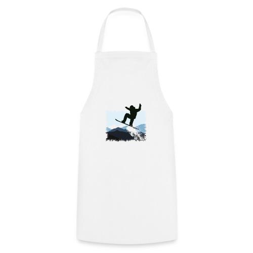 Snowboarder Action Jump | Apresski Shirt gestalten - Kochschürze