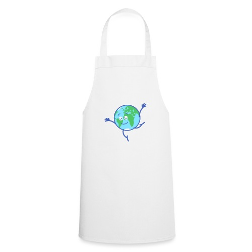 Cute planet Earth dancing graciously - Cooking Apron