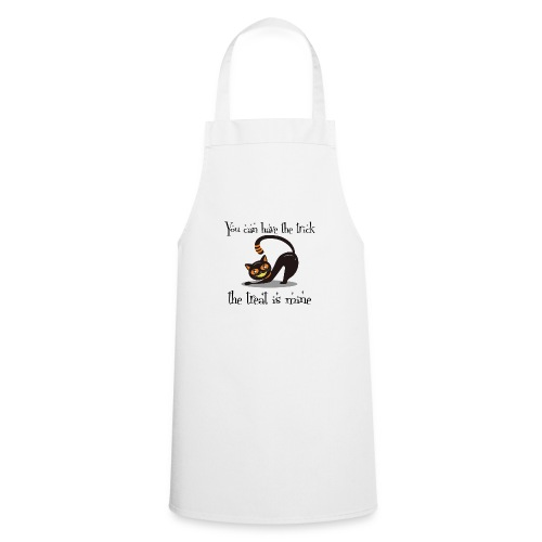 Grinning Cat Lover Halloween Trick or Treat Black - Cooking Apron