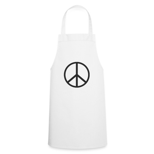 Símbolo de la paz negro - Delantal de cocina