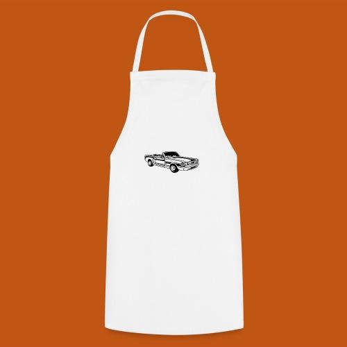 Cabrio / Muscle Car 02_schwarz weiß - Kochschürze