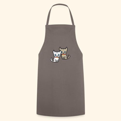 deux chats pixel - Tablier de cuisine