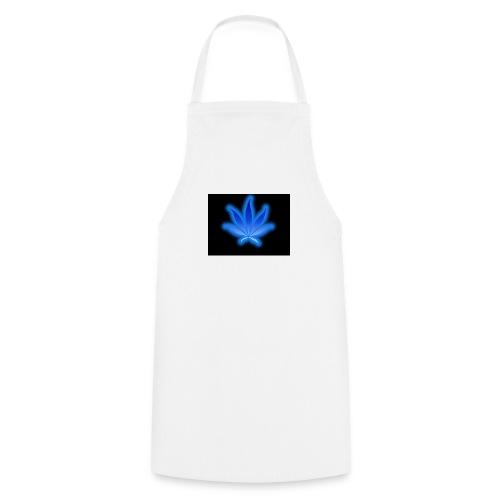 marijuana leaf blue 1 - Fartuch kuchenny