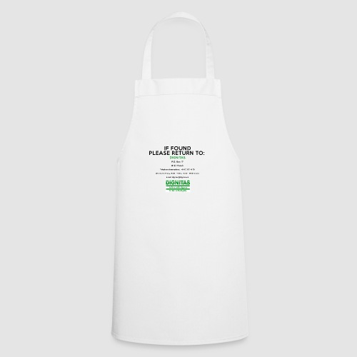 Dignitas - If found please return joke design - Cooking Apron