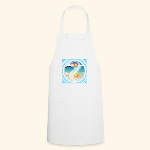 Yin Yang beach scene white - Cooking Apron