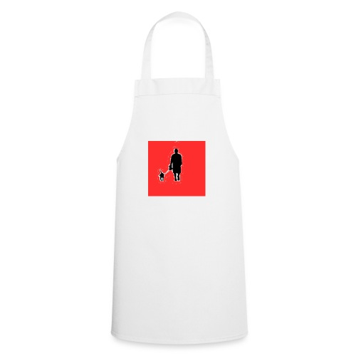 Silhouette Man Walking Dog - Grembiule da cucina