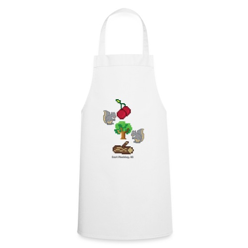 8 Bit Style Cherry Tree Wood Graphic - Cooking Apron