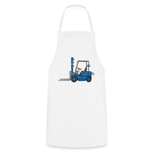 Blauer Gabelstapeler - Kochschürze