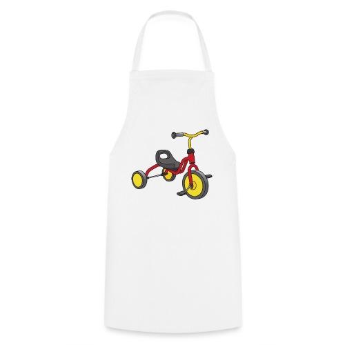 Rot-gelbes Kinderdreirad - Kochschürze