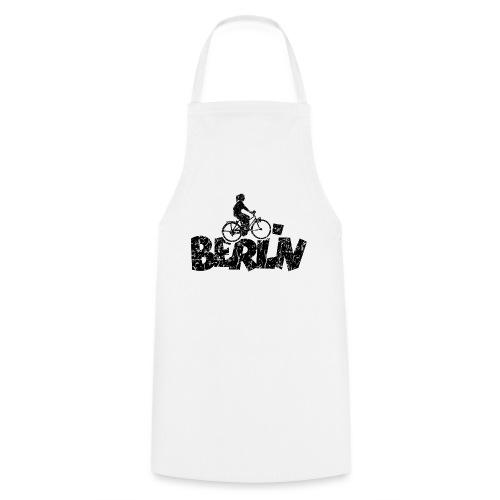 Berlin Fahrrad (Vintage/Schwarz) Fahrradfahrerin - Kochschürze