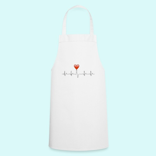 electrocardiogramme amoureux - Tablier de cuisine