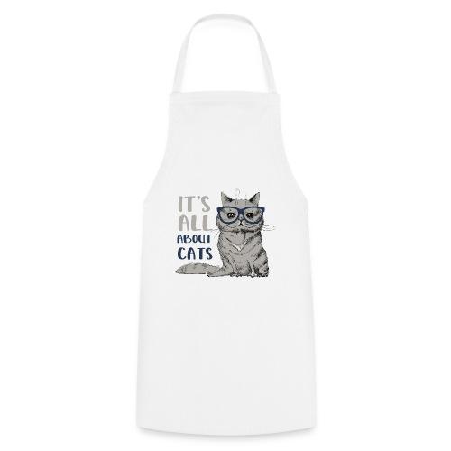 Coole Katze: It's All About Cats - Kochschürze