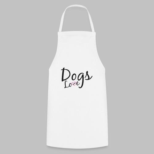 DOGS LOVE - Herz mit Hundepfoten - Kochschürze