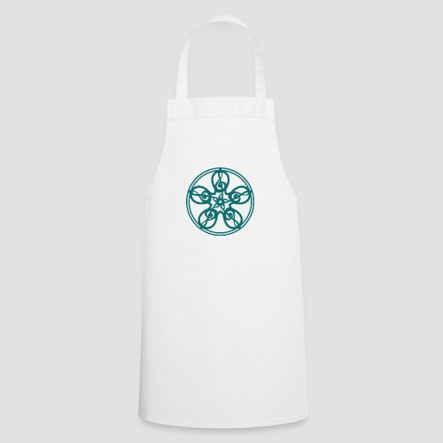 Treble Clef Mandala (teal) - Cooking Apron