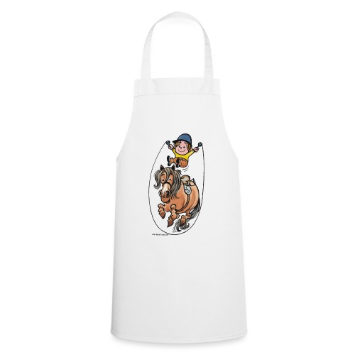 Thelwell Funny Rope Jumping Horse And Rider - Cooking Apron