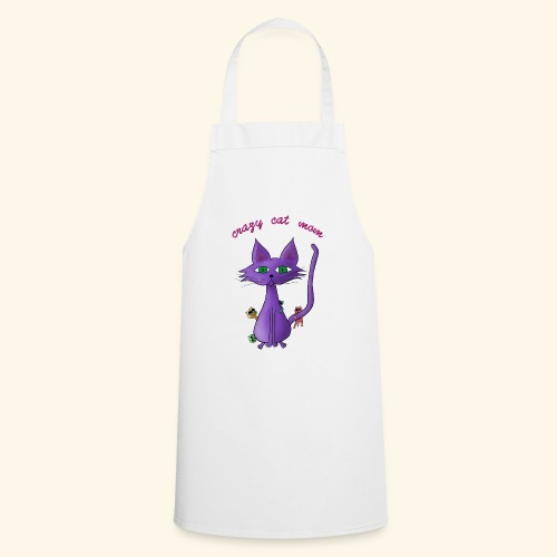 crazy cat mom - Kochschürze