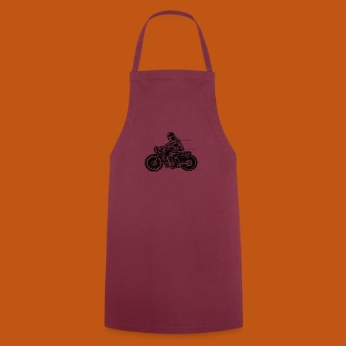 Cafe Racer Motorrad 04_schwarz - Kochschürze