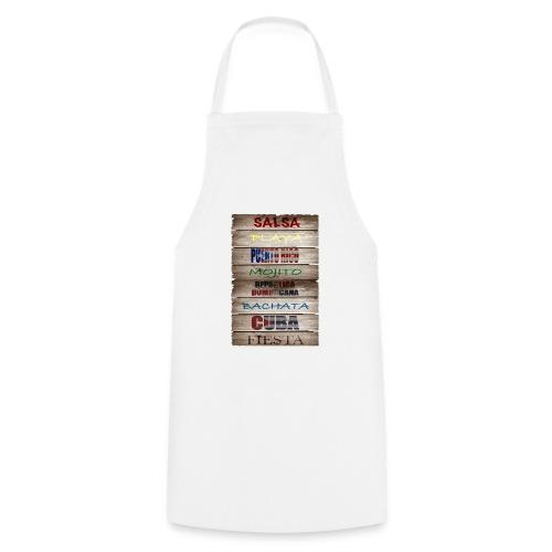 #SalsaEsLaCura panneau bois salsa - Tablier de cuisine