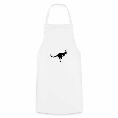 Känguru in schwarz weiss - Kochschürze