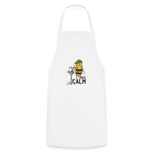 Bee Calm Biene trinkt Tee und entspannt - Kochschürze