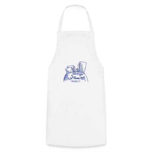 Freundelogo blau - Kochschürze