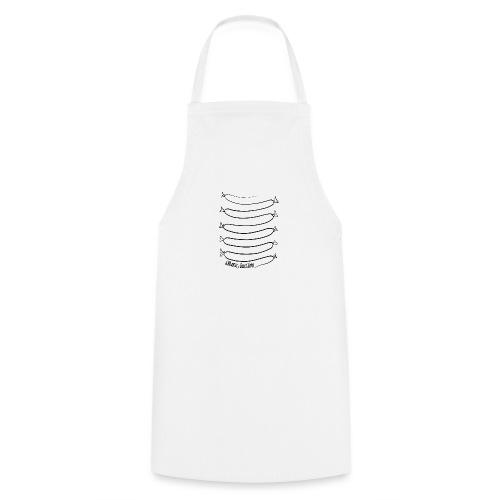 Wiener Illusion (schwarz auf weiß) - Kochschürze