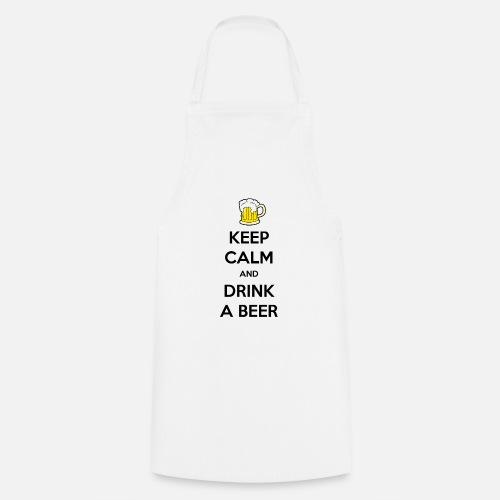 Keep Calm and Drink a Beer - Keukenschort