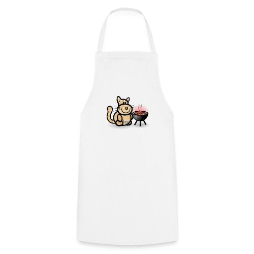 Katze beim Grillen - Kochschürze