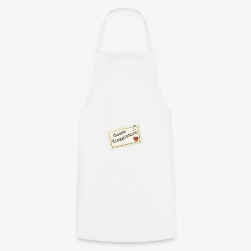 CUORE VIAGGIATORE Scritta con aeroplanino e cuore - Grembiule da cucina