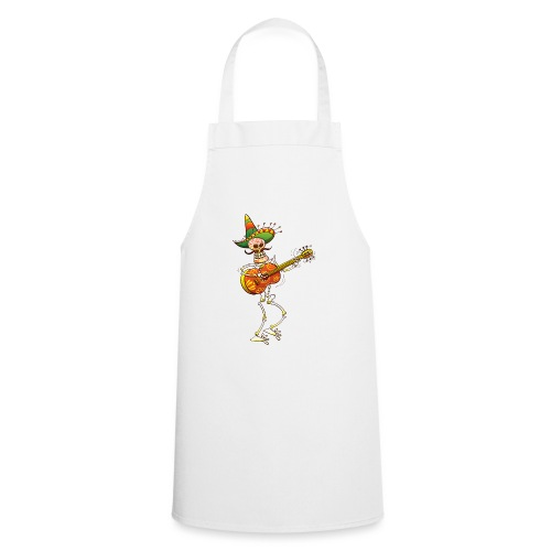 Mexican Skeleton Playing Guitar - Cooking Apron