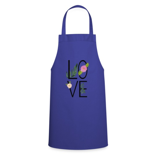 Love Sign with flowers - Cooking Apron