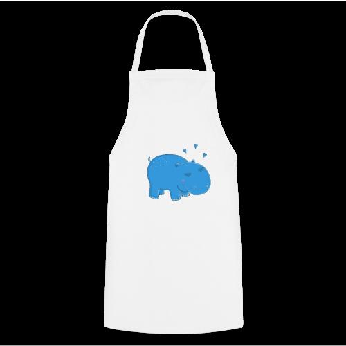 Kleines blaues Nilpferd - Kochschürze