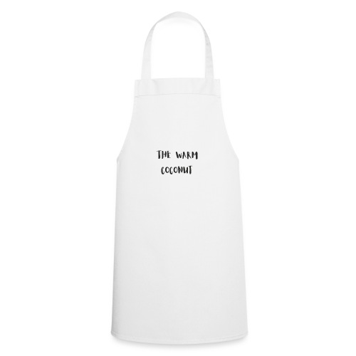 The warm coconut typographic logo - Cooking Apron