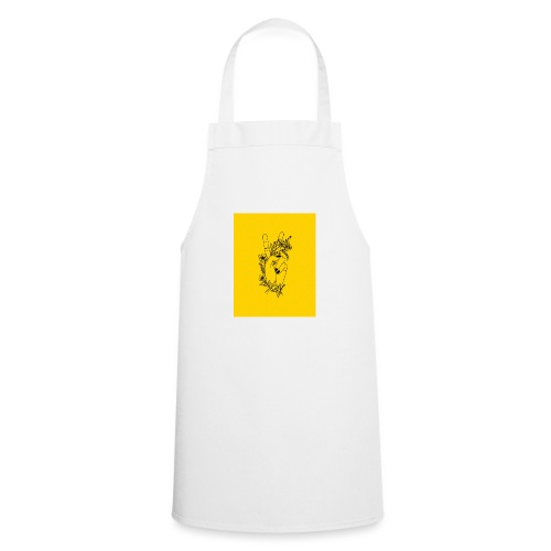 Yellow Peace Symbol Art - Cooking Apron