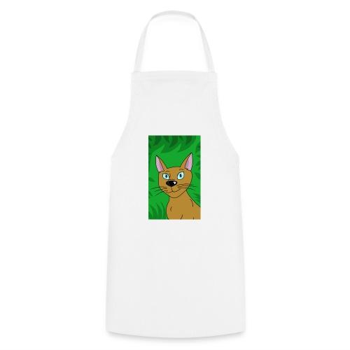 Wild pretty cartoon cat - Cooking Apron