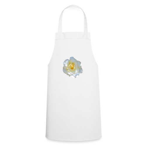 A white rose - Cooking Apron