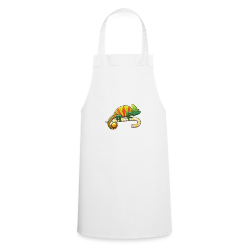 Christmas Chameleon on a Candy Cane - Cooking Apron