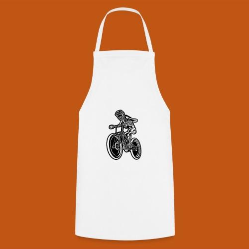 BMX / Mountain Biker 04_schwarz weiß - Kochschürze