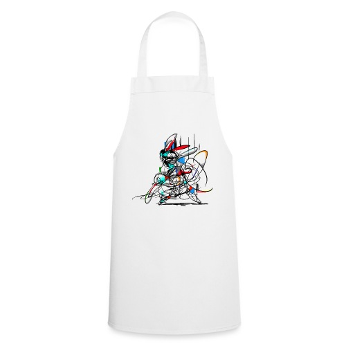Ninja fighter Easter Bunny / Abstract - Cooking Apron