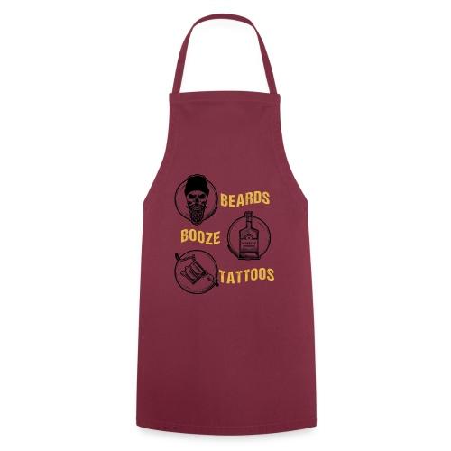 Beards Booze Tattoos Fathers Day Gift - Kochschürze
