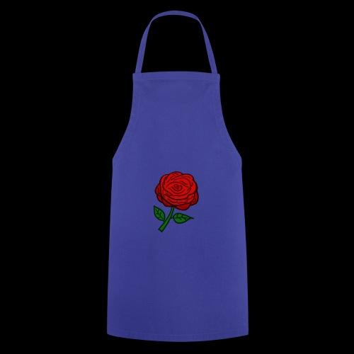 Rote Rose - Kochschürze
