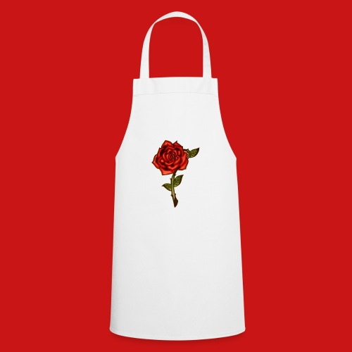 Red Rose - Grembiule da cucina
