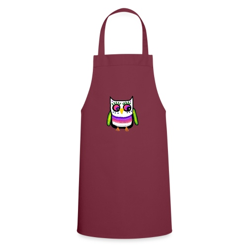 Colorful owl - Cooking Apron